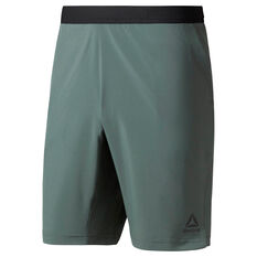 Reebok Mens Speedwick Speed Training Shorts Green S, Green, rebel_hi-res