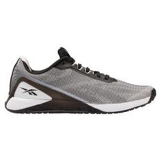 Reebok Nano X1 Grit Mens Training Shoes White/Black US 7, White/Black, rebel_hi-res