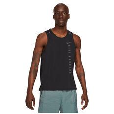 Nike Mens Run Division Miler Tank Black S, Black, rebel_hi-res