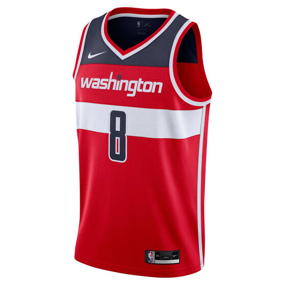 Nike Washington Wizards Rui Hachimura 2020/21 Mens Icon Edition Authentic Jersey, Red, rebel_hi-res