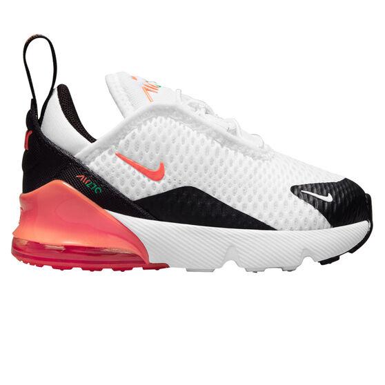 Nike Air Max 270 Toddler Casual Shoes, Black/Orange, rebel_hi-res