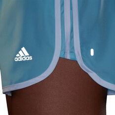 adidas Womens Marathon 20 Running Shorts, Blue, rebel_hi-res