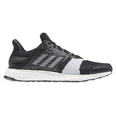 adidas Ultraboost ST Mens Running Shoes Black / White US 6.5, Black / White, rebel_hi-res
