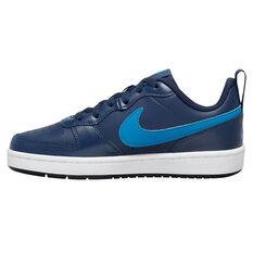 Nike Court Borough Low 2 Kids Casual Shoes Navy US 4, Navy, rebel_hi-res