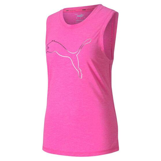 Puma Womens Favourite Cat Muscle Training Tank, Pink, rebel_hi-res