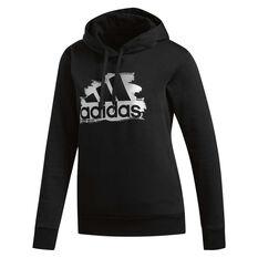 adidas Womens I See You Badge Of Sport Hoodie Black XS, Black, rebel_hi-res