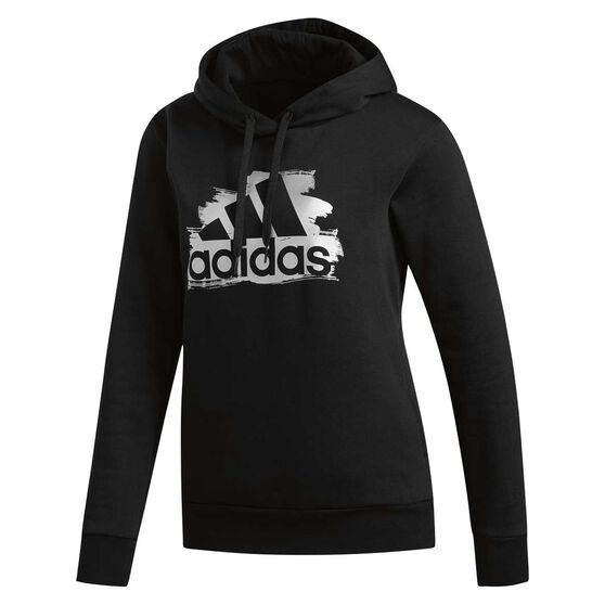 adidas Womens I See You Badge Of Sport Hoodie, Black, rebel_hi-res
