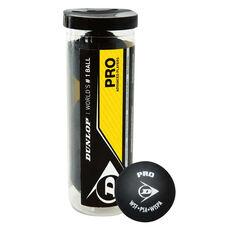 Dunlop Pro 3 Ball Tube Squash Balls, , rebel_hi-res