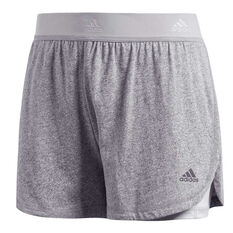 05f756eb59 clearance. adidas Womens Two In One Shorts Grey XS, Grey, rebel_hi-res