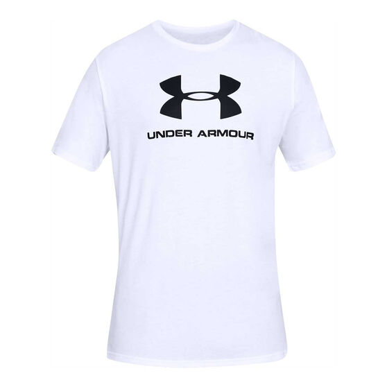Under Armour Mens VT Sportstyle Logo Tee, White, rebel_hi-res