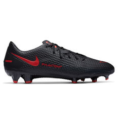 Nike Phantom GT Academy Football Boots Black/Red US Mens 7 / Womens 8.5, Black/Red, rebel_hi-res