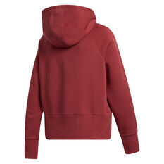 adidas Womens Post Game Arch Hoodie Red XS, Red, rebel_hi-res