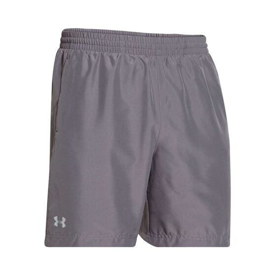 Under Armour Mens Launch 7in Running Shorts Graphite S, Graphite, rebel_hi-res