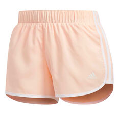 adidas Womens M10 Icon Shorts Orange XS, Orange, rebel_hi-res