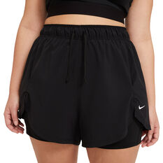 Nike Womens Flex Essential 2 in 1 Training Shorts Black XS, Black, rebel_hi-res