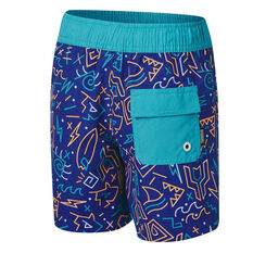 Tahwalhi Toddler Boys Doodles Noodles Board Shorts Blue 3, Blue, rebel_hi-res