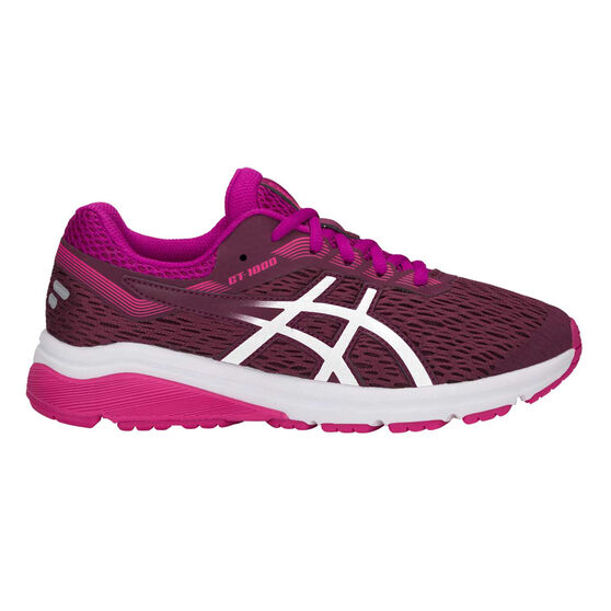 Asics GT 1000 7 Kids Running Shoes, Pink / White, rebel_hi-res