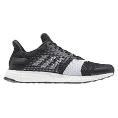 adidas Ultraboost ST Mens Running Shoes Black / White US 6, Black / White, rebel_hi-res