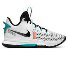 Nike LeBron Witness V Mens Basketball Shoes White/Black US 7, White/Black, rebel_hi-res