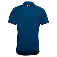 Under Armour Mens Vanish 1Up Golf Polo Blue S, Blue, rebel_hi-res