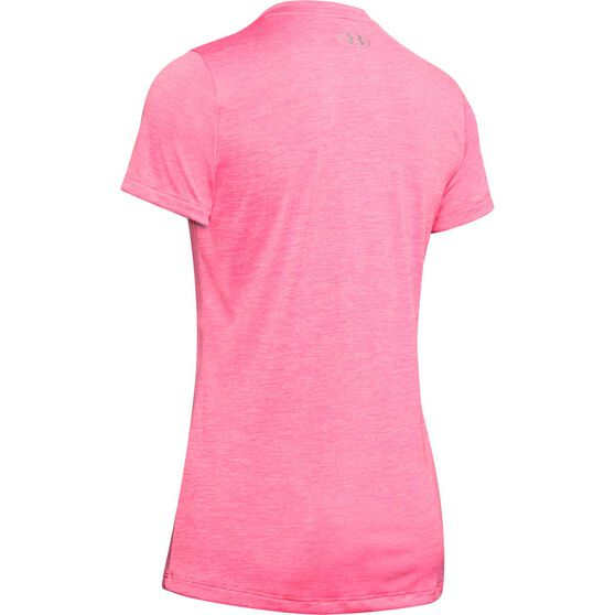 Under Armour Womens UA Tech Twist Tee, Pink, rebel_hi-res