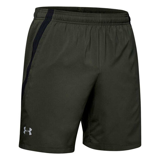 Under Armour Mens Launch 7in Woven Shorts, Green, rebel_hi-res