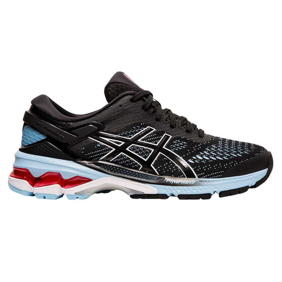 Asics GEL Kayano 26 Womens Running Shoes Black / Blue US 6.5, Black / Blue, rebel_hi-res