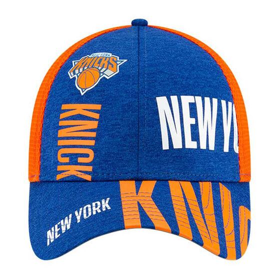 New York Knicks New Era 39THIRTY Tip Off Cap, Blue/Orange, rebel_hi-res
