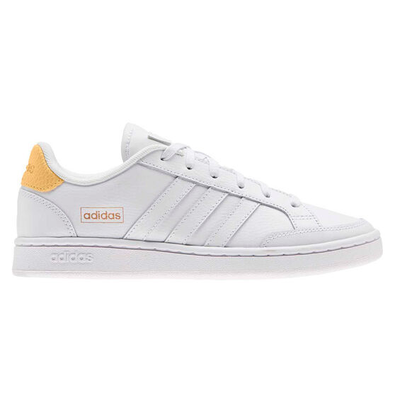 adidas Grand Court SE Womens Casual Shoes, White/Orange, rebel_hi-res