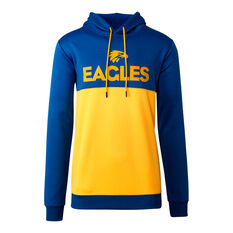 West Coast Eagles 2020 Mens Ultra Hoodie Blue/Yellow S, Blue/Yellow, rebel_hi-res