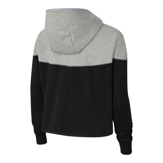 Nike Womens Tech Fleece Hoodie, Grey / Black, rebel_hi-res