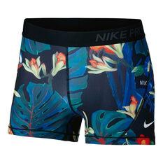 Nike Womens 3in Pro Hyper Femme Shorts Print L, Print, rebel_hi-res