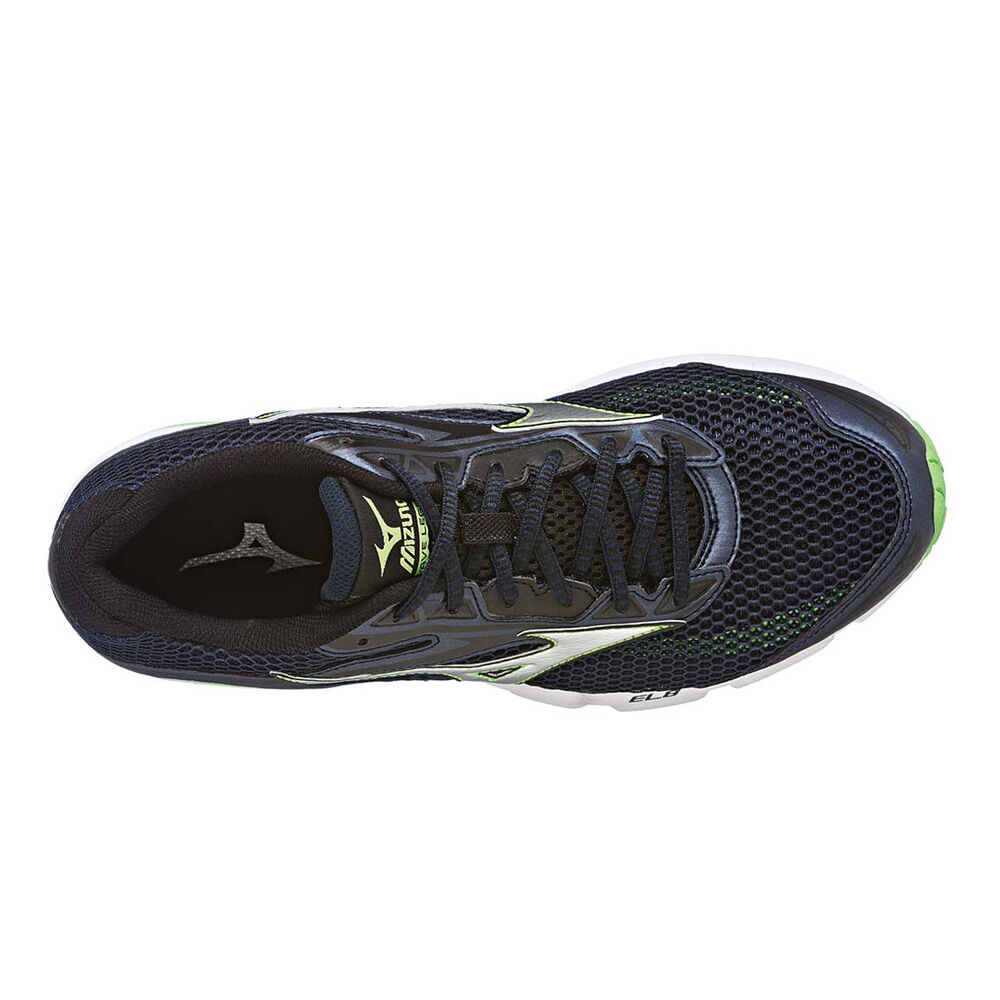 beb71e9858 Mizuno Wave Legend 4 Mens Running Shoes Navy   Green US 8