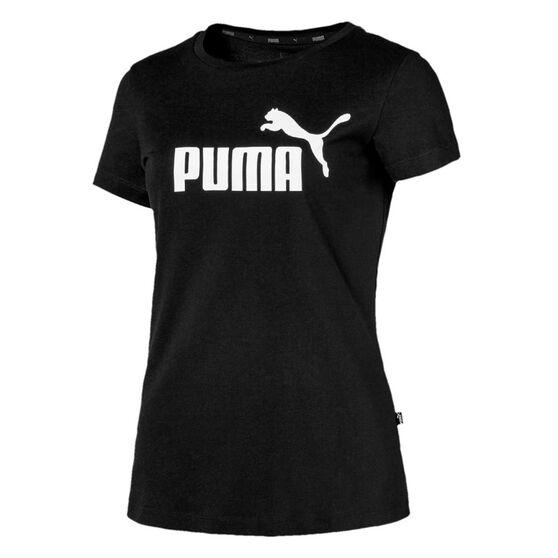 Puma Womens Essentials Tee, Black, rebel_hi-res
