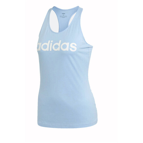 adidas Womens Essentials Linear Slim Tank, Blue, rebel_hi-res
