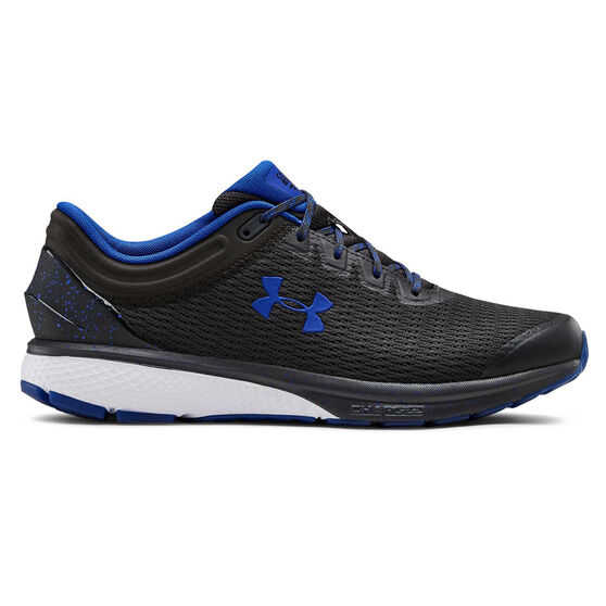Under Armour Charged Escape 3 Mens Running Shoes, Grey / Blue, rebel_hi-res