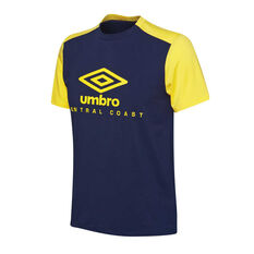 Central Coast Mariners 2018 / 19 Mens Supporter Tee Navy / Yellow S, Navy / Yellow, rebel_hi-res