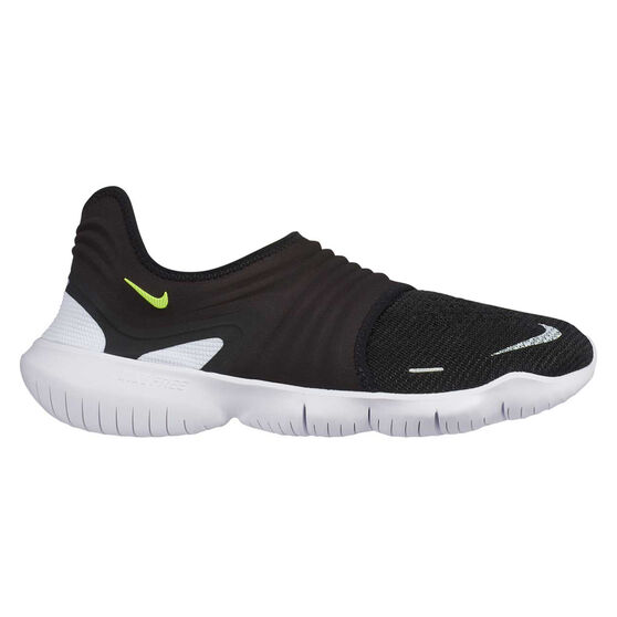 Nike Free RN Flyknit 3.0 Mens Running Shoes, Black / Yellow, rebel_hi-res