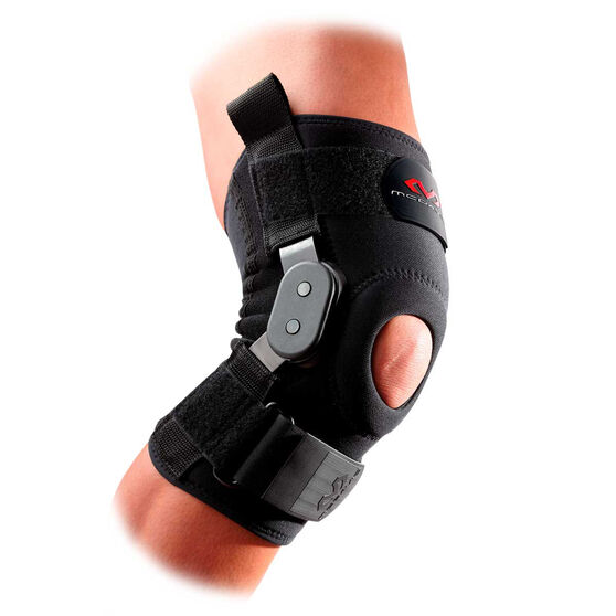 McDavid Knee Brace with Polycentric Hinges, Black, rebel_hi-res