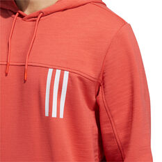 adidas Mens Post Game Light Hoodie, Red, rebel_hi-res