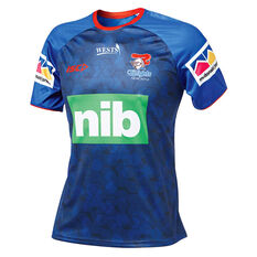 Newcastle Knights 2019 Mens Training Tee Blue S, Blue, rebel_hi-res