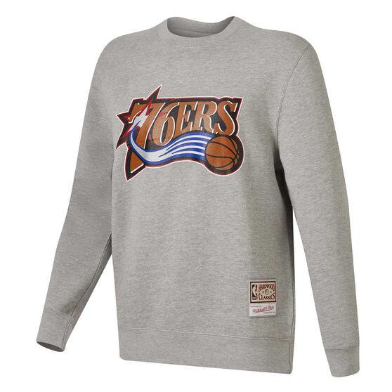 Philadelphia 76ers Mens Sweatshirt, Grey, rebel_hi-res