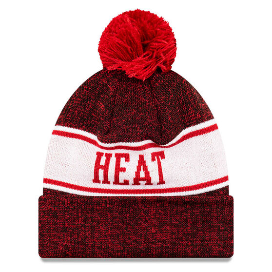 Miami Heat New Era Pom Knit Beanie, , rebel_hi-res