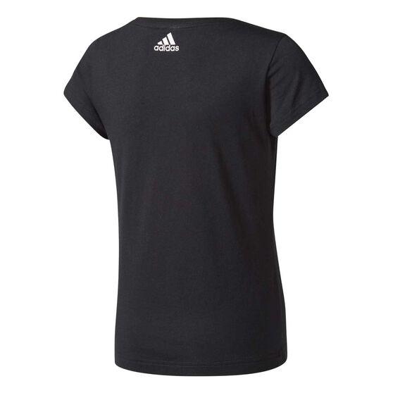 adidas Girls Special Linear Tee Black / Pink 8, Black / Pink, rebel_hi-res
