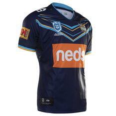 Gold Coast Titans 2019 Mens Home Jersey Navy / Blue S, Navy / Blue, rebel_hi-res