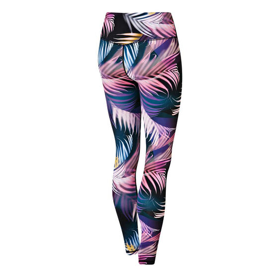 Ell & Voo Womens Crystal Full Length Tights, Print, rebel_hi-res