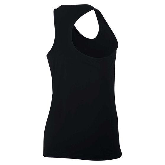 Nike Girls Pro Training Tank, Black, rebel_hi-res