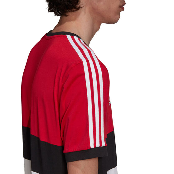 Manchester United 2021/22 Mens 3-Stripes Tee Red S, Red, rebel_hi-res