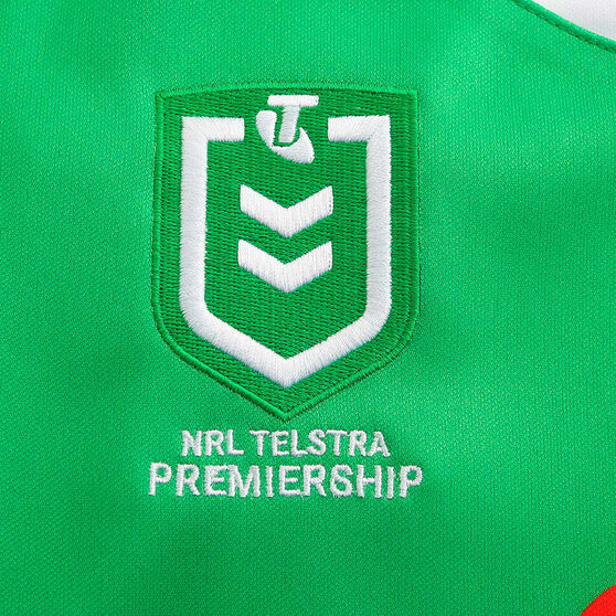 Canberra Raiders 2020 Kids Home Jersey, Green, rebel_hi-res
