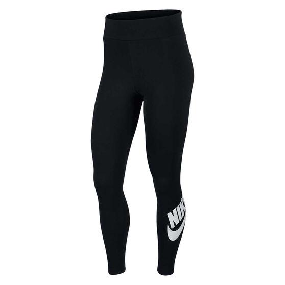 Nike Womens Sportswear High Waisted Leggings, Black, rebel_hi-res